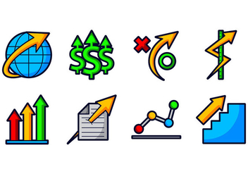 Grow Up Business Icon - vector #370771 gratis