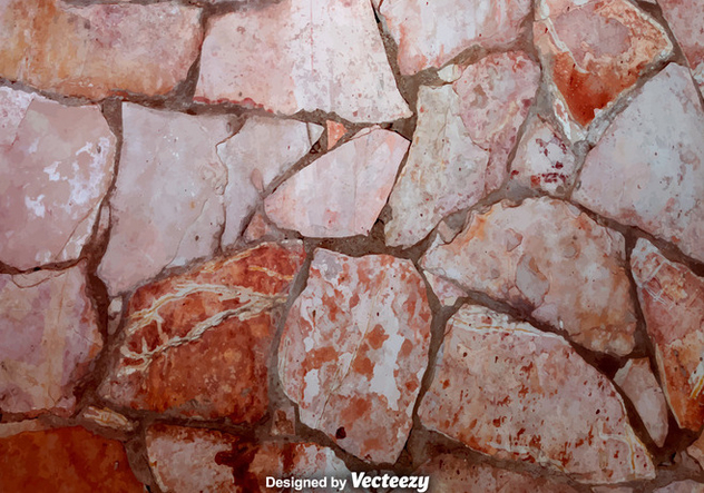 Vector Realistic Stonewall Background - vector gratuit #370781