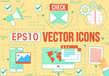 Free Digital Media Vector Icons - Free vector #370791