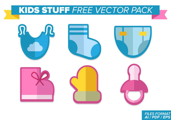 Kids Stuff Free Vector Pack - vector #370851 gratis