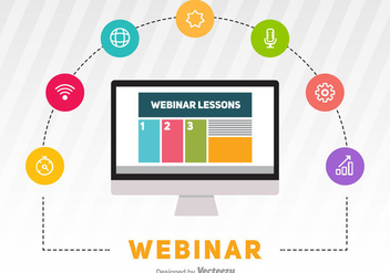 Webinar Vector Illustration - бесплатный vector #370891