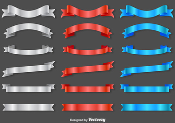 Ribbon Sashes - Vector - Free vector #370901