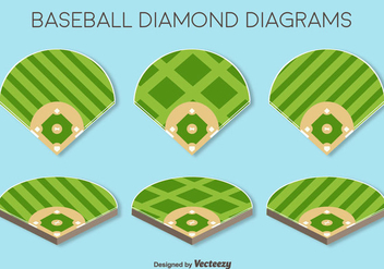 Vector Set Of Baseball Fields Elements - Kostenloses vector #370921