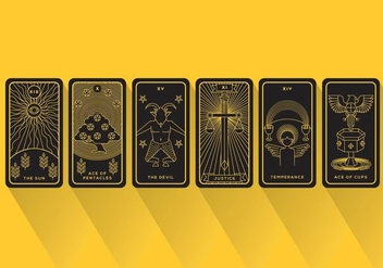 Tarot vector cards - бесплатный vector #370961