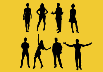 Man and woman Vector Silhouettes - vector #371001 gratis