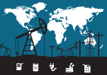 Oil Field Vector - Free vector #371011