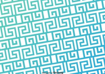 Greek Key Blue Pattern Vector Background - Free vector #371021
