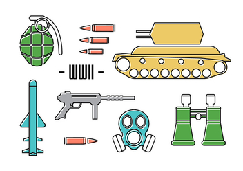 Free War Icons - vector #371031 gratis