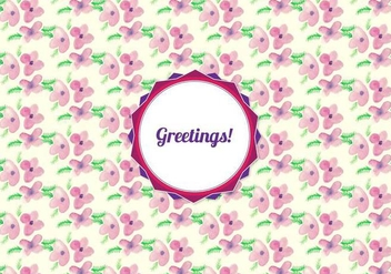 Free Vector Watercolor Floral Pattern - vector gratuit #371081
