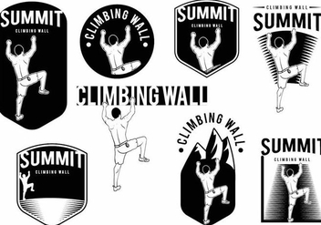 Climbing Wall Badge Set - vector gratuit #371161