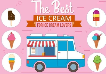 Free Ice Cream Vector Set - vector gratuit #371171