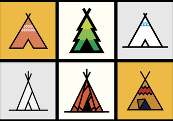 Tipi vector illustrations 1 - бесплатный vector #371181
