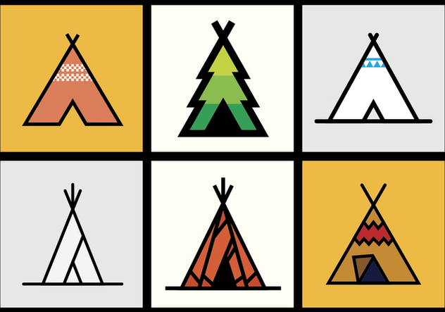 Tipi vector illustrations 1 - Free vector #371181