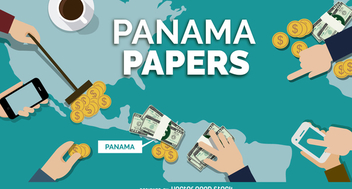 Panama Papers banner design - vector gratuit #371231