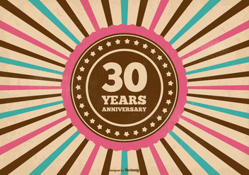 30 Year Anniversary Illustration - vector #371321 gratis