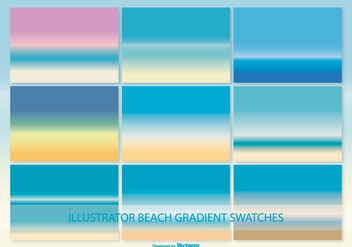 Illustrator Gradient Beach Swatches - vector #371411 gratis