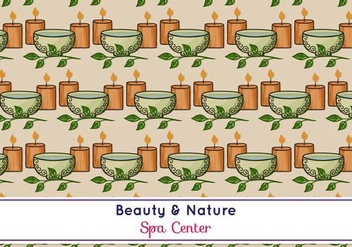 Free Vector Spa Pattern - vector gratuit #371521