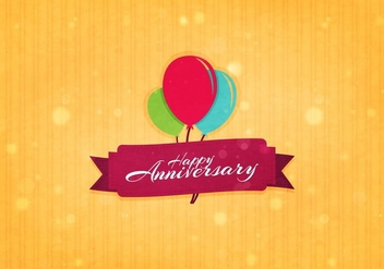 Free Vector Aniversario Background - vector gratuit #371761