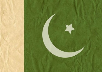 Free Vector Flag Of Pakistan On Cardboard Texture - бесплатный vector #371771