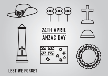 Anzac Day Element Vectors - бесплатный vector #371841