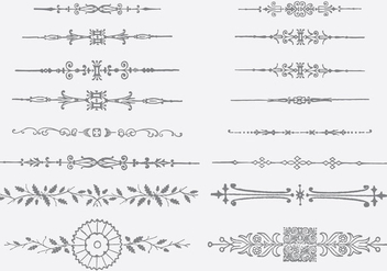 Ornamental Dividers - бесплатный vector #371861