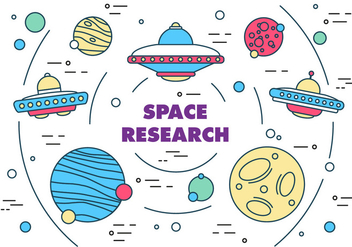 Free Space Research Vector - vector #371891 gratis
