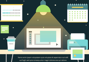 Free Graphic Work Space Vector - vector #371921 gratis