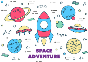Free Vector Space Elements - vector #371941 gratis
