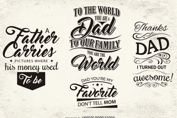 Message emblems for father's day - vector #371961 gratis