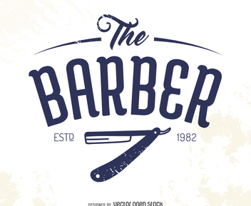 The barber logo - vector #371971 gratis