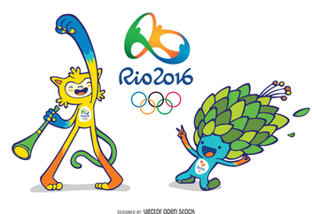Rio 2016 Olympic and Paralympic Mascots - Free vector #371981