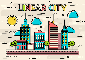 Free Linear City Vector - Free vector #372081