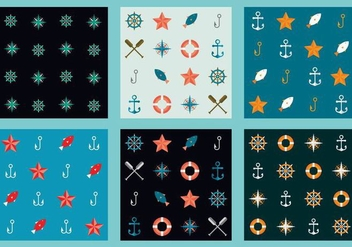 Free Marine Vector Patterns 6 - бесплатный vector #372101