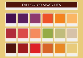 Free Fall Vector Color Swatches - vector gratuit #372161