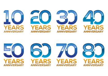 Free Anniversary Vector Pack - Kostenloses vector #372181