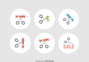 Free Scissor Cutting Vector Icons - бесплатный vector #372221