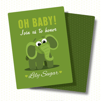 Baby shower card - Free vector #372241