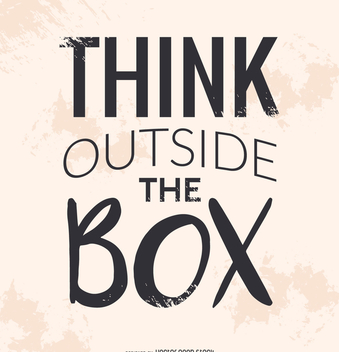 Think outside the box poster - бесплатный vector #372301