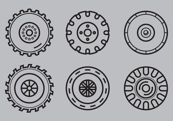 Free Tractor Tire Vector 1 - Free vector #372431