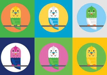 Free Budgies Vector Illustrations - Free vector #372441