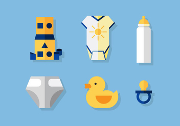 Vector Baby Icon Set - vector gratuit #372571