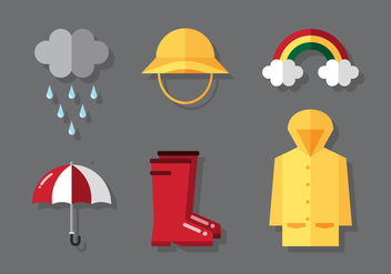Vector Rainy Stuff - Free vector #372581
