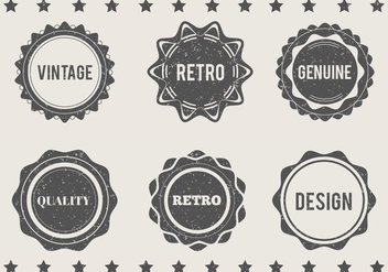 Free Vector Grungy Eroded Labels - vector #372631 gratis