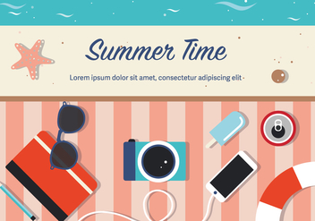 Free Summer Time Vector - бесплатный vector #372661