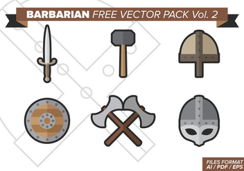 Barbarian Free Vector Pack Vol. 2 - vector gratuit #372681