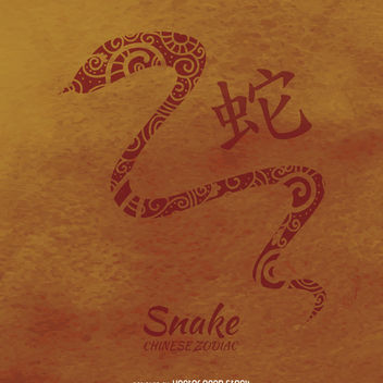 Chinese zodiac snake illustration - Free vector #372731