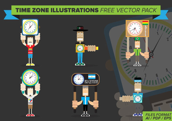 Time Zone Illustrations Free Vector Pack - Kostenloses vector #372851