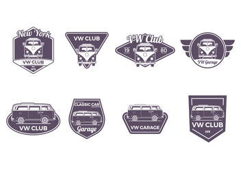 Free VW Camper Badge Vector - Free vector #372871