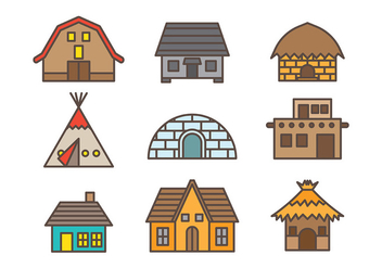 Free Shack Icons Vector - Free vector #372881