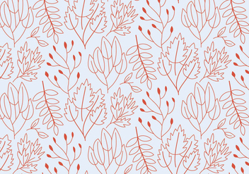 Outline Plants Pattern - бесплатный vector #372911